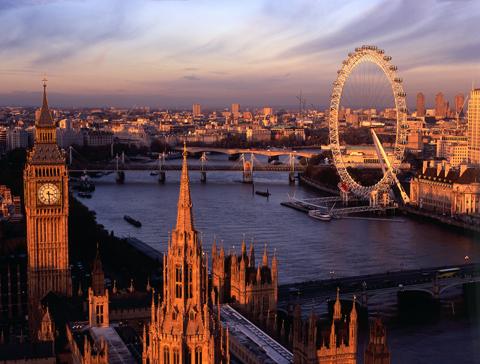 Биг-Бен, река Темза, колесо обозрения London Eye