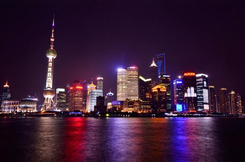 Ночная панорама Шанхая