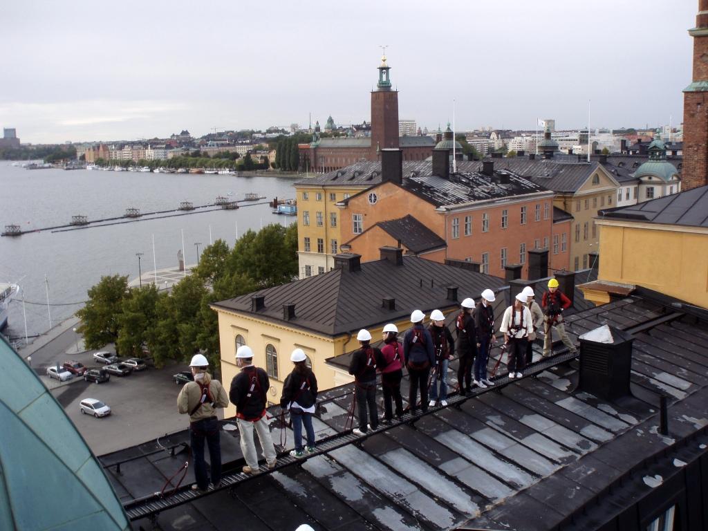 Прогулка по крышам в Стокгольме